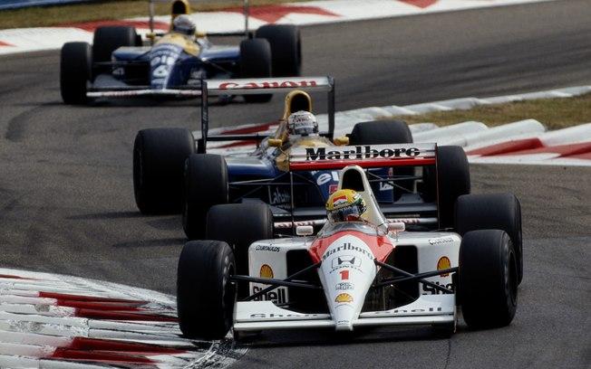Senna, Mansell e Patrese disputam a vitória no GP da Itália